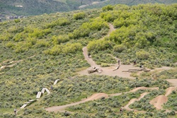 trailside parkin silver summit with small natural surface dog park fenced, park city dog parks